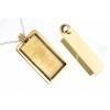 Bezel Handmade Pendant Rectangle 21.6x42x6.5mm Brass